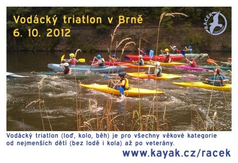 Vod�ck� triatlon vBrn� 6. 10. 2012